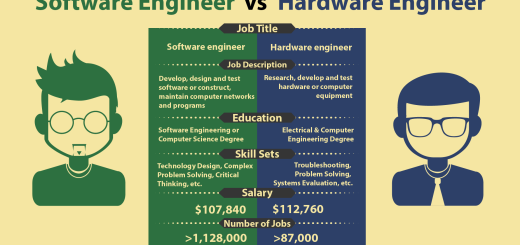 Infographic: Software vs hardware engineer