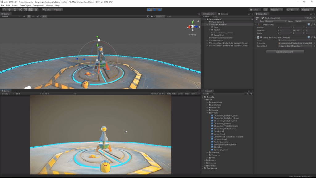Unity engine and C# in game development